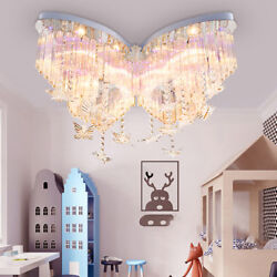 Modern 4-Color Crystal Chandelier LED Ceiling Lighting Lamp with Remote Control