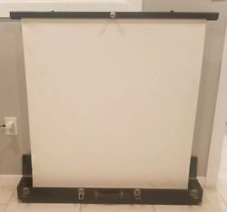 Vintage Stella Portable Movie Projector Screen in Self Storing Case