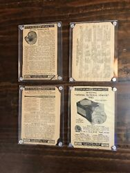Antique Spalding Baseball Glovebaseballbat Early 1900's Advertisement Lot Of 4 $60.00