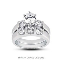 1.96ctw I-SI2 Exc Round Natural Diamonds 18k Gold Classic Matching Rings 8.6gram