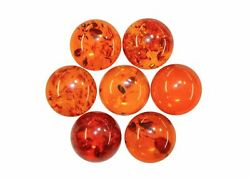 Natural Extra Fine Amber - Round Cabochon - Baltic Region - AAA+ Grade