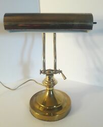 Vintage Brass Piano Office Student Bankers Adjustable Desk Lamp Back to School