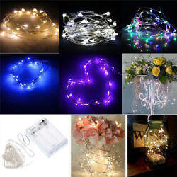 2050100 LED String Fairy Lights Copper Wire Battery Powered Waterproof USA