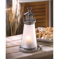 6 Frosted Glass Lookout Lighthouse Candle Lamp Lanterns Wedding Centerpieces NEW $92.95