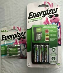 Energizer Recharge Value Charger with 4 AA and 4 AAA rechargeable batteries New $25.49
