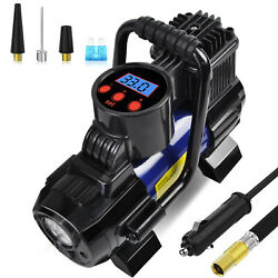 5 Heavy Duty Portable 12V 1 Car Tire Inflator Pump Air Compressor 140W 150 PSI $33.24