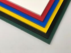 """Color Coded Plastic HDPE Cutting Board 1 2"""" .500"""" Thick You Pick The Size $30.50"""