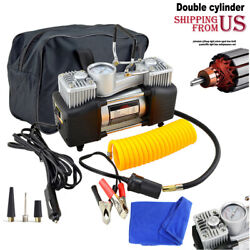 12V Heavy Duty Portable Air Compressor Car Tyre Auto Tire Inflator Pump 150PSI  $39.12