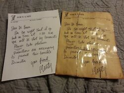 Back to the future Doc#x27;s letter from marty prop replica 1955 and 1985 set $20.00