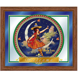 Miller High Life Girl in the Moon Mirror