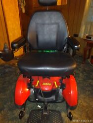 Jazzy Select Elite Power Chair. New Batteries Red oversized powerchair $800.00