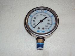 BII Pressure Guage with 2 12 inch dial 0 - 200 PSI $6.99