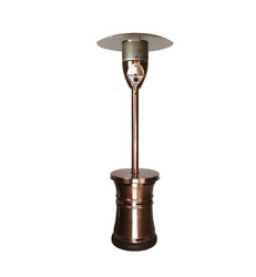 Lava Heat Italia Propane Heater Alto 48000 BTU Copper Outdoor Patio Restaurant
