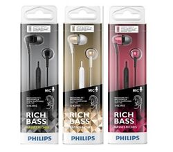 Philips SHE3905 Rich Bass With Mic In-Ear Headphones Earbuds BUY 2 GET 1 FREE