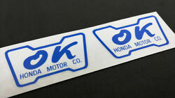 Pair of OK HONDA DECALS Inside Outside Glass Window STICKERS Civic CRX $4.65