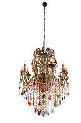 Grand Milano Modern Baroque Harlequin Crystal Chandelier Ceiling Light Fixture