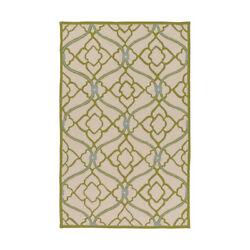 Surya CTY4000-810 Courtyard Outdoor Rug Green and Neutral