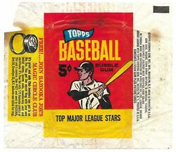 1965 Topps Baseball 5 Cent Wrapper With Magic Circle Club Ring Advertisement $50.00