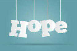 Hope Hanging Letters Inspirational Art Print Poster 18x12 $6.99