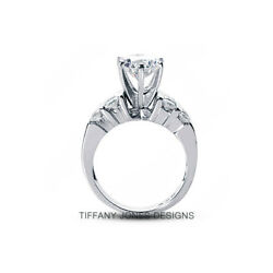 3.10ctw D-VS1 VG Round AGI Natural Diamonds 14k Wide Band Engagement Ring 11.3g