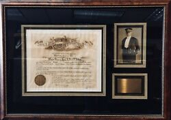 Order of the Indian Wars Original Certificate for Hugh Lenox Scott Museum Frame