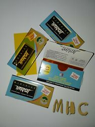 4 Books! Hornet Gold Clear Transparent Cellulose Cigarette Rolling Papers!