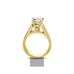 1.02ct I-SI1 Ex Princess AGI Natural Diamond 14k Cathedral Solitaire Ring 8.44gr