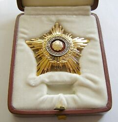 f344 Romania communist Order of the Star RPR 2nd class made in GOLD with box