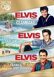 Clambake / Follow that Dream / Frankie and Johnny Triple Feature Elvis Set $27.99