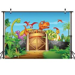 Dinosaur Park Photography Backdrops Kids Photo Studio Children Birthday Banners $12.99