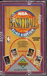 1991-92 Upper Deck Basketball Lot Of 4 Sealed Hobby Boxes 12 Cards Per Pack