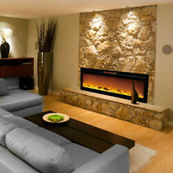 Regal FlameAstoria 60quot;Built Ventless Heater Recessed Wall Electric Fireplace Log $899.99