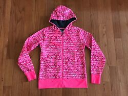Under Armour Storm Womens Full Zip Hoodie Breast Cancer Pink She's A Fighter Med