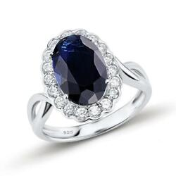 Majestic Blue Crown 925 Sterling Silver Fashion Finger Ring S01
