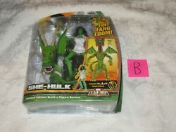 Hasbro Marvel Legends She-Hulk Fin Fang Foom Build A Figure Series Head