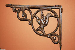 She Shed Hummingbird Garden Shelf Brackets Corbels Cast Iron 9 inchesB-24-