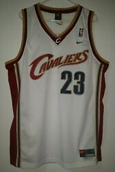 LeBron James Cleveland Cavaliers CAVS Nike Rookie Year White Jersey XL 23 NBA
