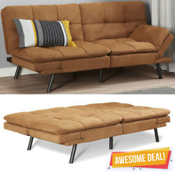 Memory Foam Futon Sofa Bed Couch Sleeper Convertible Foldable Loveseat FULL Size $189.98