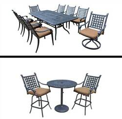 12-Pc Outdoor Dining and Bar Set [ID 3684395]