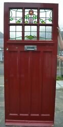 English leaded light stained glass front door. R902. Delivery option.