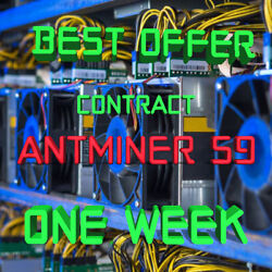 Ƀ💲✅⚡Best Offer 1 Week Mining Contract 14.5 THs AntMiner S9 Bitmain BITCOIN BTC