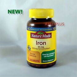 Nature Made Iron 65 mg 365 Tablets Dietary Supplement EXP 01 2023 NEW $11.20