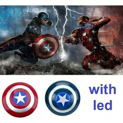 Captain America Shield Voice flash Costume props with LED light Carnival cosplay $24.90