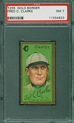 1911 T205 Gold Border Baseball Fred Clarke PSA 7 PIRATES NM POP 10 HOF