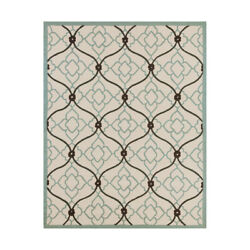 Surya CTY4042-810 Courtyard Outdoor Rug Blue and Blue