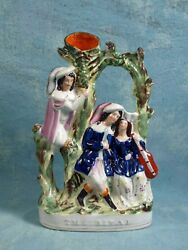Staffordshire figure spill vase The Rival c1850s SUPERB LARGE Victorian 19th C