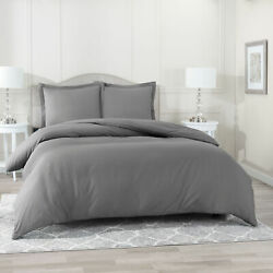 Egyptian Comfort 3 PC Duvet Cover Set 1800 Count Ultra Soft Cover for Comforter $22.59