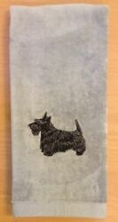 Scottish Terrier Scottie Hand Towel Embroidered Custom Personalized