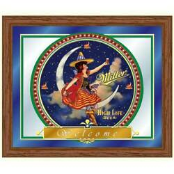 16 in. with x 19 in. H Miller High Life Girl in the Moon Mirror [ID 70284]