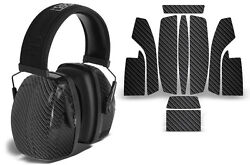 Sticker Wrap Decal Fits: Howard Leight Impact Noise Ear Shooting Muffs CARBON $19.95